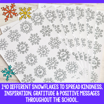 Blizzard of Kindness Activity | Kindness Snowflakes | Snowflake Confetti