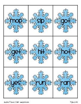 Winter - Blizzard of Words - CVC Game (FREEBIE)