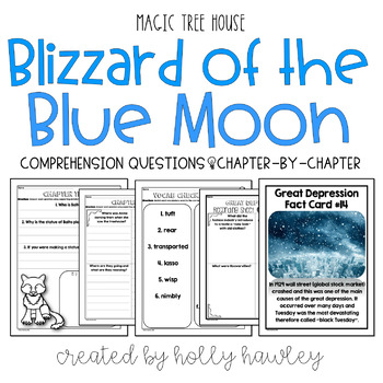 Blizzard of the Blue Moon- A Magic Tree House Guided Reading Activity