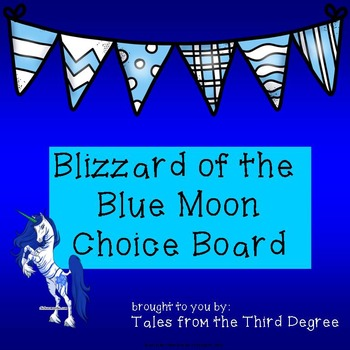 Magic Tree House Blizzard of the Blue Moon Reading and Writing Choice Board