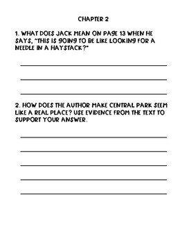 Blizzard of the Blue Moon Comprehension Packet