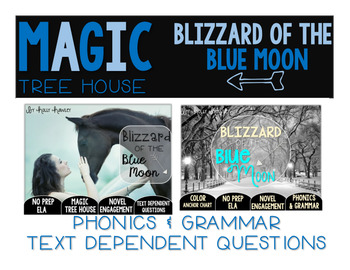 Blizzard of the Blue Moon NO PREP Text Dependent Questions BUNDLE