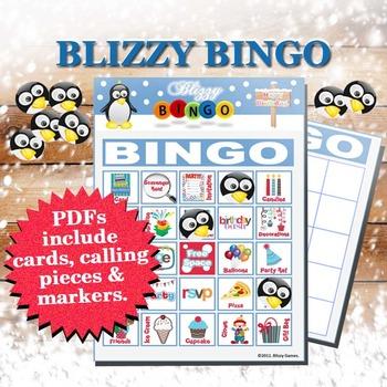 Blizzy Bingo BIRTHDAY Printable PDFs