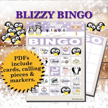 Blizzy Bingo BRIDAL SHOWER Printable PDFs