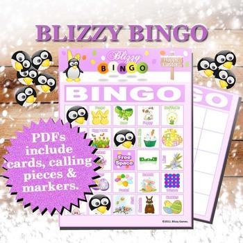 Blizzy Bingo EASTER Printable PDFs