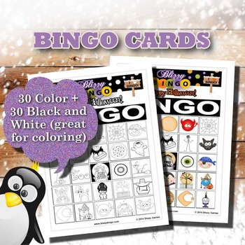 Blizzy Bingo HALLOWEEN 2 Printable PDFs