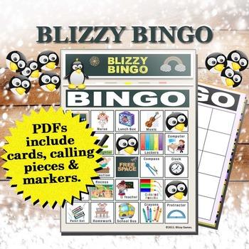 Blizzy Bingo SCHOOL Printable PDFs