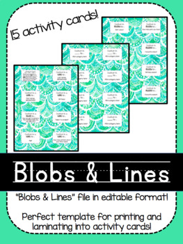 Blobs & Lines Activity Cards!