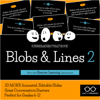 Blobs and Lines 2: An Icebreaker that Rocks!