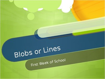 Blobs and Lines Ice Breaker