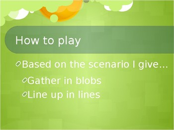 Classroom Ice Breaker: Blobs and Lines Activity