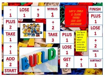 Block Addition and Subtraction Game Board