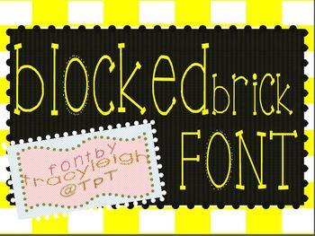 Block Brick Font