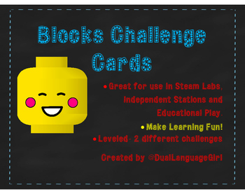 Block Building Challenge Task Cards (Great for STEM, Makerspace, Fun building)