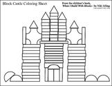 Coloring Page: Block Castle