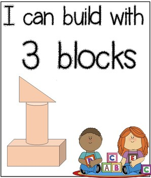 Block Center: I can build with blocks (Counting to 5)