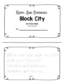Block City Tracer Booklet