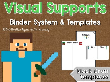 Visual Supports System {Block Craft Theme}