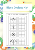 Block Designs 4x4 (Spatial Skills Worksheets)