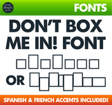 Block Font - Learn to spell writing font - Box Font