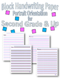 Block Handwriting Paper- Portrait Orientation