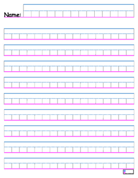 Block Handwriting Paper- Portrait Orientation