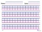 Block Handwriting Paper- Step One