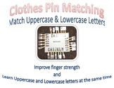 Clothes Pin Matching- Uppercase and Lowercase Letters
