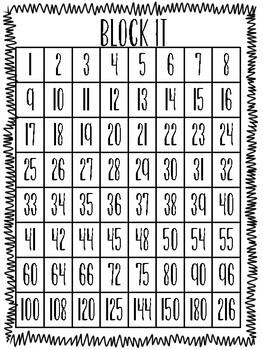 Block It! Math Game