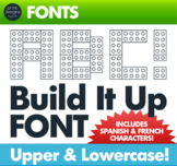 Block Font • Inspired by Building Blocks • KTD Build It Up