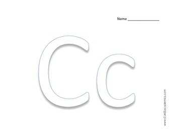 Block Letters * ABC * Fine Motor Craft