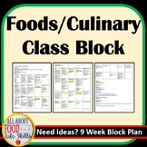 Block Plan for A Foods Class
