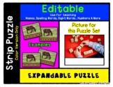 Block Play - Autumn - Expandable & Editable Strip Puzzle w