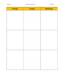 Block Schedule Lesson Plan Template