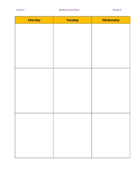 block schedule lesson plan template block schedule lesson plan template