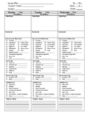 block schedule lesson plan template