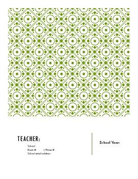 Block Schedule Teacher Planner Template, Printable