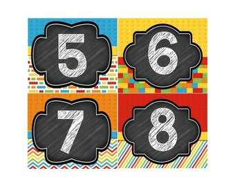 Block Theme & Chalk Board Student Numbers