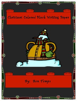 Block Themed Christmas Writing Paper
