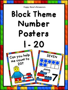 Block Themed Number Posters