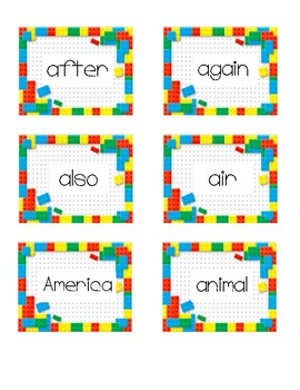 Block Word Cards 200 Fry