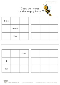 Block Words 3x3 (Pre-K)