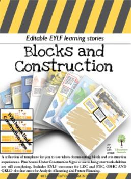 EYLF Block and Construction Portfolio Templates
