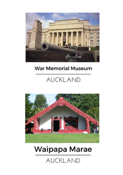 Block area/play inspirations using New Zealand buildings - printable