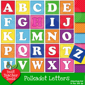 Letter Clipart, Alphabet Clipart,  Letter Blocks Clip Art, AMB-448
