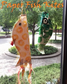 Block-printed Paper Fish Kites: World History+Art