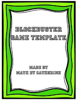 Blockbuster Game Template