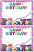 Blockcraft Kids Birthday Cards Editable with 10 Different Frame Colors