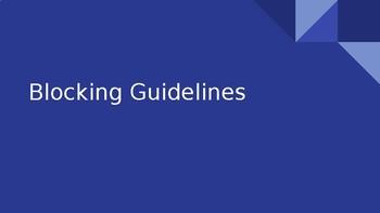 Blocking Guidelines