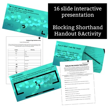 Blocking & Stage Conventions Activity - 30 minute activity and presentation